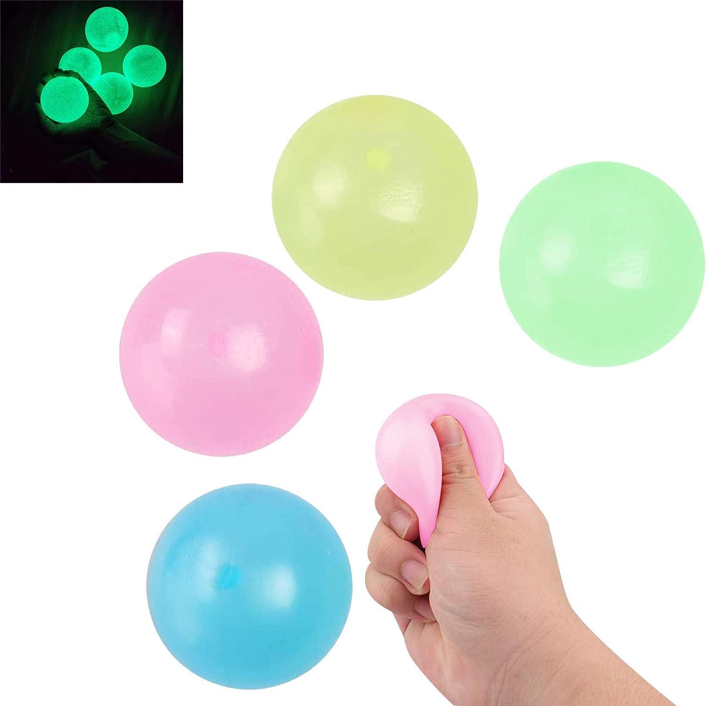 A 8PCS Boule de Stress,Balles Jouets D/écompression,Balle Anti-Stress,Balles De Jouets De D/écompression pour Enfants,Balle Collante,Balles Murales anti-stress