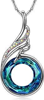 Nirvana de Fénix - Collar, Simbolizando la Suerte y la Renovación, Cristales de Swarovski, Diseño Original, Elegante Caja de Regalo, Joyería de Mujer