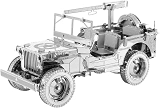 Fascinations Metal Earth ICONX Willys MB Jeep 3D Metal Model Kit