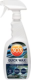 303 Marine Quick Wax - Quick And Easy Spray On Wax - 90 Days Of Protection - Provides a Slick, Protective, Glossy Shine - ...