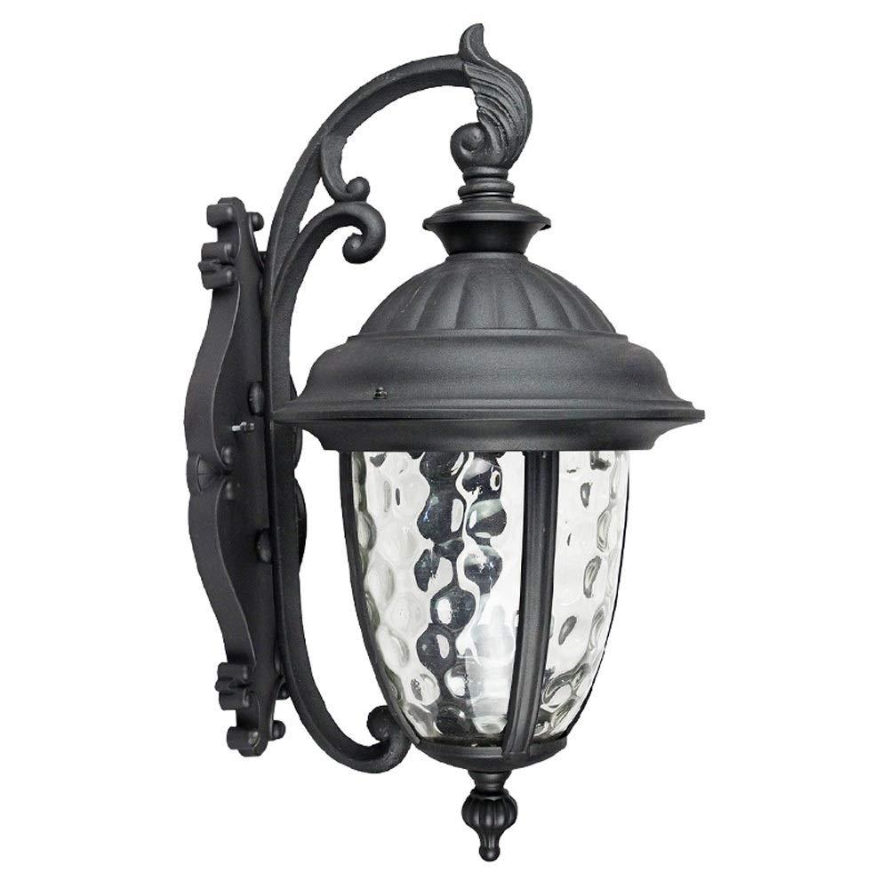 HJZY Lámpara de Pared Exterior Exterior Villa de jardín Farol a Prueba de Agua IP55 Paisaje Antiguo Balcón Pasillo Pasillo Apliques de luz (Color : Black, tamaño : M): Amazon.es: Hogar