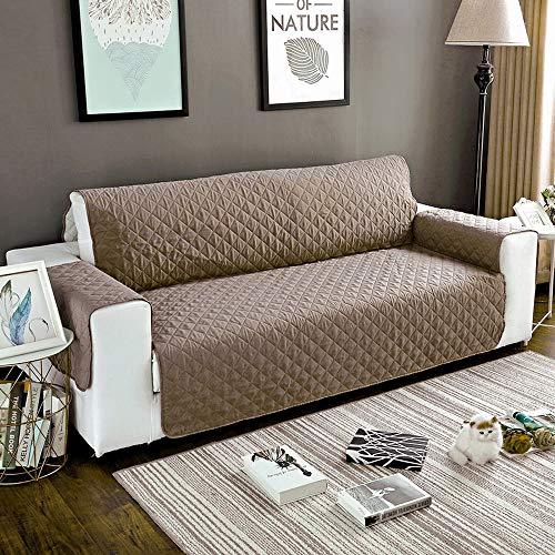 urijk Funda para sofá sillón- Protección para Sillón Resistente al Agua Antideslizante - Cubierta de sofá para Mascotas Top sofá Protectora, Caqui, 190cmx195cm