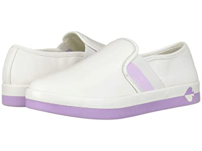 Kate Spade New York Sandy (White/Frozen Lilac Nappa) Women