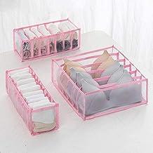 Drawer Organisers, Wardrobe Dividers, Set of 6/7/11 Lattice Fabric Closet Organiser, Foldable Storage Boxes to Tidy Drawer...