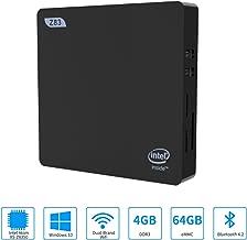 Fanless Mini PC,Intel x5-Z8350 HD Graphics Fanless Mini Desktop Computer,Windows 10 64-bit,4GB/64GB Storage/4KHD/Dual Band WiFi AC/Bluetooth 4.2