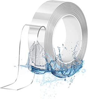 Double Sided Tape Heavy Duty (16.4ft), Removable Mounting Tape, Reusable Washable Traceless, Multipurpose Adhesive Tape, S...