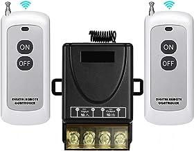 YETOR Remote Control 12v Switch,DC 12V/24V/48V/72V/ 40A relay Light Switch with 984FT Long Rage for Anti-Theft Alarms, Sec...