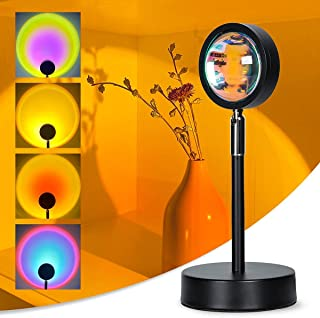 Sunset Projection Lamp Sunset Lamp LED Night Light Projector,90 Degree Rotation Sunset Projection Lamp USB Sunset Lamp Pro...