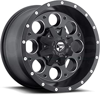Fuel Revolver 15x10 Black Wheel / Rim 5x4.5 & 5x4.75 with a -43mm Offset and a 72.60 Hub Bore. Partnumber D52515000437