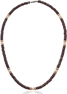 Brown, Tan and Cream Wood Coco Bead Necklace - 5mm (3/16