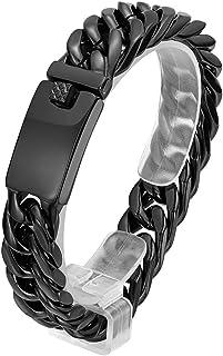 Luxury Men Stainless Steel Chain Bracelet Cuban Curb Link Hip Hop Jewelry G4SPDE