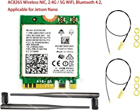 Wireless-AC8265 Dual Mode Intel 8265AC Chip Wireless NIC Module for Jetson Nano Developer Kit Support 2.4GHz/5GHz 300Mbps/867Mbps Dual Band WiFi and Bluetooth 4.2