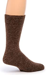 Women's Outdoor Alpaca Wool Socks, Terry Lined with Comfort Band Opening