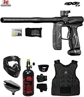 MAddog Empire Axe 2.0 Beginner Protective HPA Paintball Gun Package - Dust Black