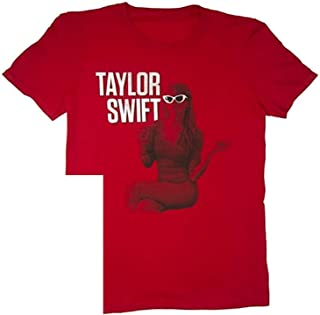 Taylor Swift T-Shirt Vintage Red Sitting Tour TEE Small or Medium