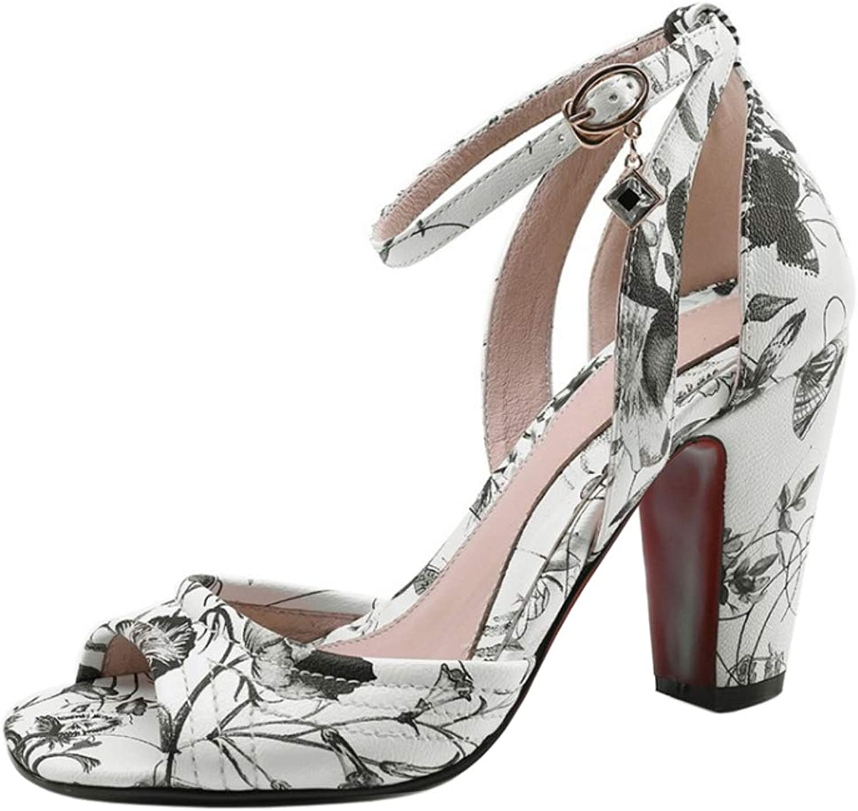NIGHT CHERRY Women Fashion Block Heel Sandals