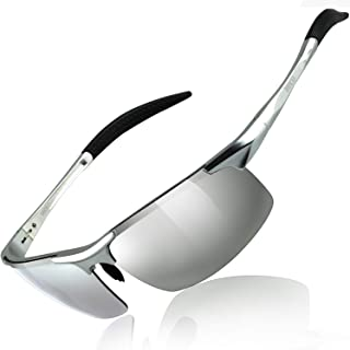 Sponsored Ad - DUCO Mens Sports Polarized Sunglasses UV Protection Sunglasses for Men 8177s