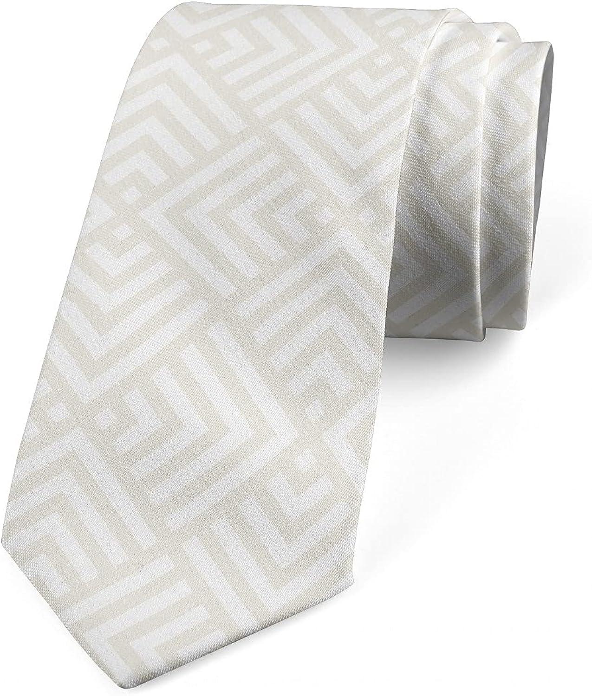 Ambesonne Men's Tie, Nude Tones Minimal Squares, 3.7