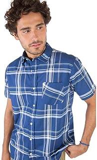 Camisa Xadrez Azul Marinho/Off
