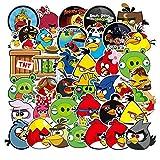 100 Simpatici Adesivi Angry Birds Adesivi per Auto Cellulare Valigia Chitarra Doodle Water Cup Non marcato Impermeabile