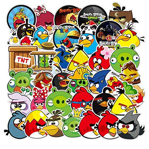 YZFCL Cute Angry Birds Sticker Car Sticker Mobile Travel Box Guitar Doodle Water Cup Unmarked Waterproof 100pcs
