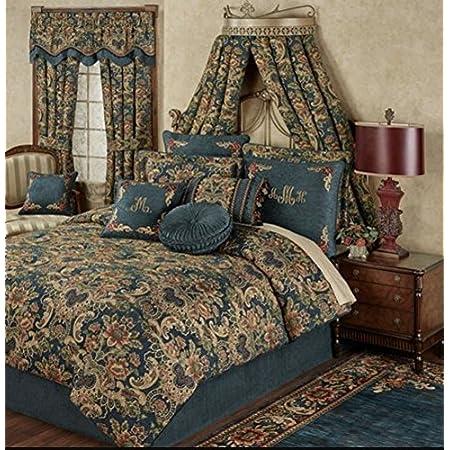 Taupe RDM Koncept LA Touche Collection 440 Tc 1 Square Window Pane Sheet Set Queen