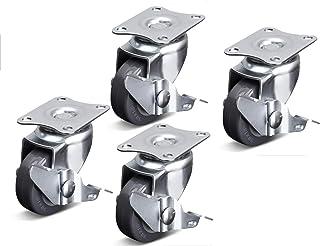 LZPQ Ruedas giratorias para Muebles con Freno Desbloqueo con una Llave Diámetro de la Rueda 38 mm / 50 mm Banco de Traba...