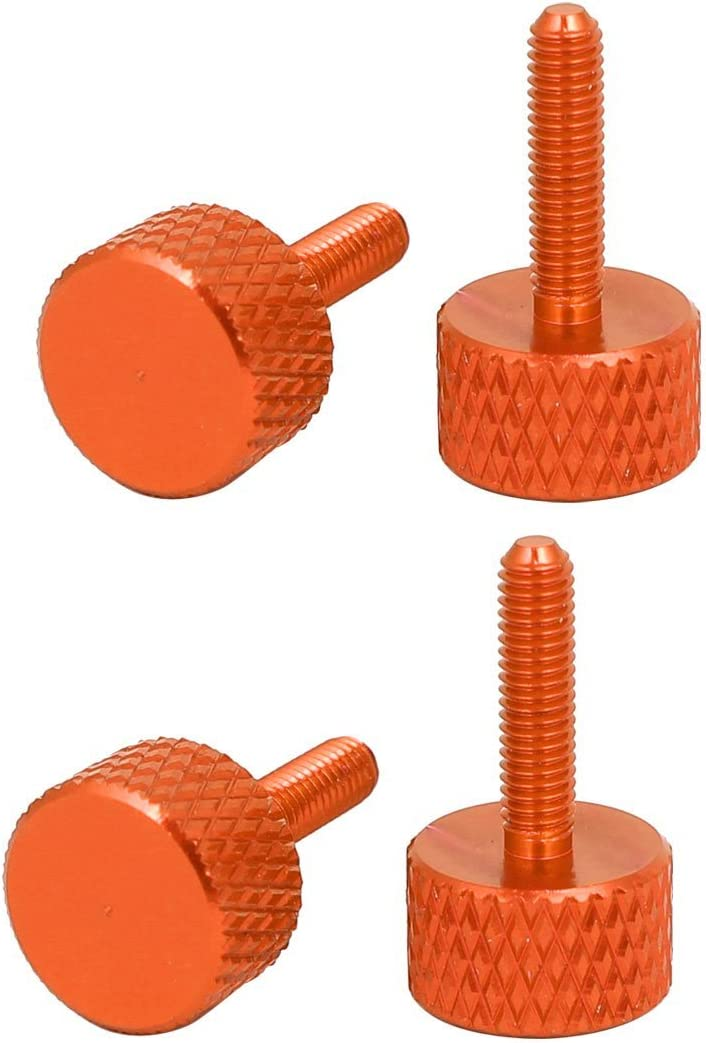 NA Computer PC Graphics Card M3x12mm Knurled Screws with knurled Head Orange 4 Pieces