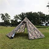 Outdoor Waterproof Big Outdoor Pyramid Tent Camping Teepee Cone Camouflage Tents (Color : Camouflage)