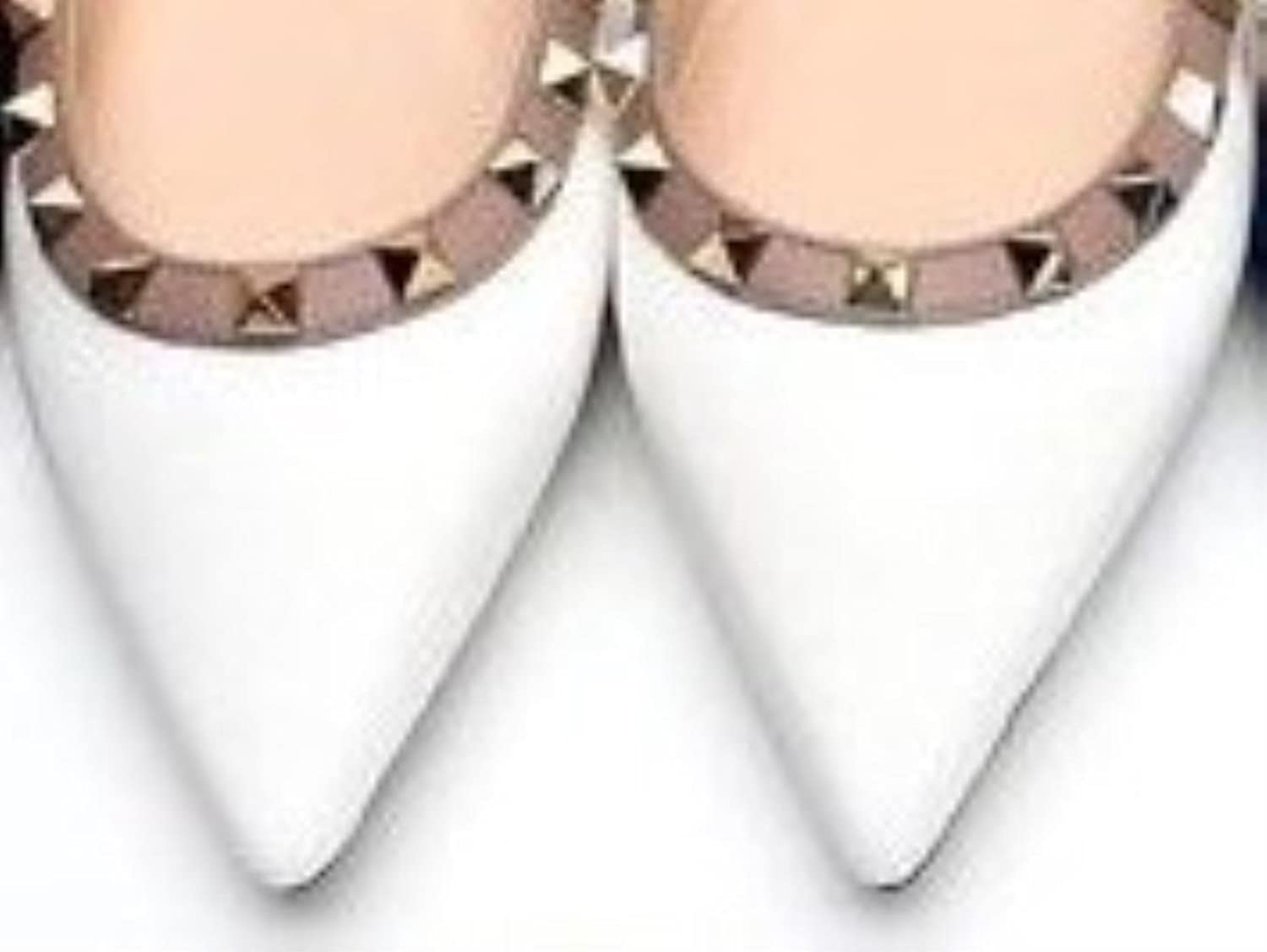 Casual Women Pointed Toe Rivets Flat shoes Woman Shallow Candy color Dress shoes Daily shoes
