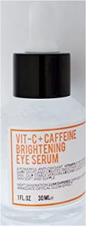 The Herbiarie Vitamin C and Caffeine Brightening Eye Serum - Botanical Based Skincare - Reduce Dark Spots, Creates Smoother, Light-Reflective Skin