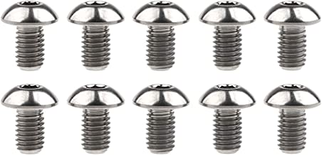 Wanyifa Titanium Ti Water Bottle Cage M5x8mm Bolt Button Head Allen Key Screws Pack of 10