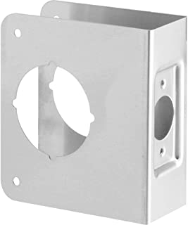 Defender Security U 9554 Door Reinforce 1-3/4-Inch Thick by 2-3/4-Inch Backset 2-1/8-Inch Bore, Stainless Steel, Recessed