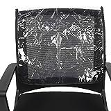 Couverture de dossier de chaise, housse de protection de chaise de salon de beauté de coiffeur, ronde évite d'endommager le revêtement de salon de spa contre les taches