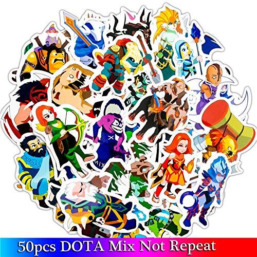 Grappige Cartoon Game Stickers Voor Moto & Koffer Cool Laptop Graffiti Stickers Skateboard Kids Stickers 50 stks/partij