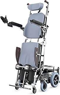 FHISD Stand Up Electric Wheelchair for Climb Stairs,Lithium Battery Powered Climbing Wheelchair for Elderly