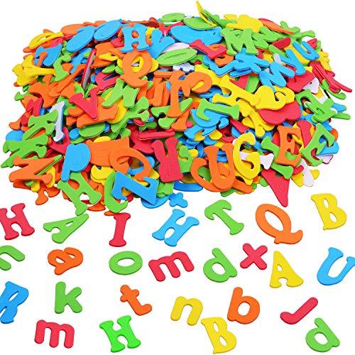 Aneco 1040 Stück Schaumstoff-Buchstaben Alphabet Aufkleber selbstklebend Großbuchstaben Aufkleber für Kunst Bastelbedarf