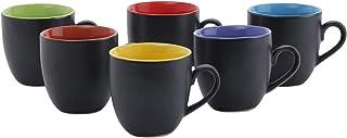 Pratham Enterprises Hanso Matt Finish Microwave Safe Tea & Coffee Cups (Multicolour, 200ml) - Set of 6 Pieces