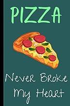 PIZZA NEVER BROKE MY HEART: Cute pizza notebook for women