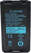 GoodQbuy 7.4V 2000mAh Li-ion Replacement walkie talkie Battery Pack KNB-24 KNB-24L KNB-35 KNB-35L KNB-56 KNB-56L KNB-57 KNB-57L for Kenwood Radio TK-2140 TK-3140 TK-2148 TK-3148 TK-2160 TK-2170TK-3160