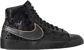Womens Blazer Mid Fashion Shoes, Black/Metallic Gold,...