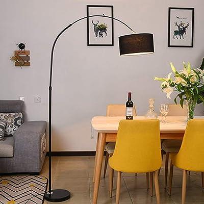 MILUCE Lámpara de pie arqueada para mesa de comedor-Modern Fish ...
