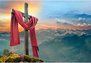 Yeele-Easter-Backdrop 10x8ft Easter Photography Background Cross Peak Dawn Holy Light Resurrection Grassland Photo Backdrops Pictures Studio Props Wallpaper
