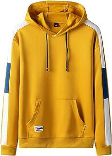 IFOUNDYOU Men's Hoodie Sale Hot, Men's Casual Color Collision Patchwork Hoodie Long Sleeves Sweatershirt Tops Plus Size Au...
