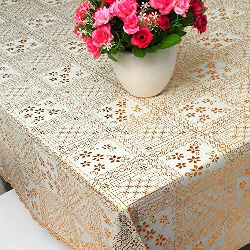 YOUYUANF Tischdecke waschbare Gartentischdecke Tischschutzfolie PVC Kunststofftischdecke137x220 cm
