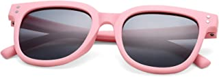 Rubber Kids Polarized Sungl Shades - COASION Sunnies for Boys Girls Toddler and Children Age 2-10