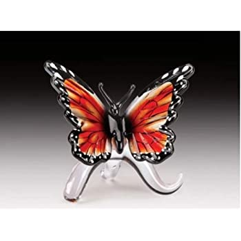 Dynasty Gallery Sunshine Glass Butterfly 25444 6 Inches Wide