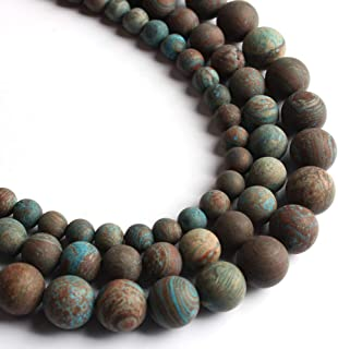 Song Xi Matte Blue Crazy Agate Beads 8mm Natural Stone Beads for Jewelry Making 15inch Beads