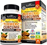 High potency turmeric pills enhanced with bioperine: BioSchwartz turmeric formula has 1500mg of turmeric curcumin with 95% standardized curcuminoids per serving (high potency) and 10mg of bioperine (black pepper, curcumin with black pepper) aiding in...