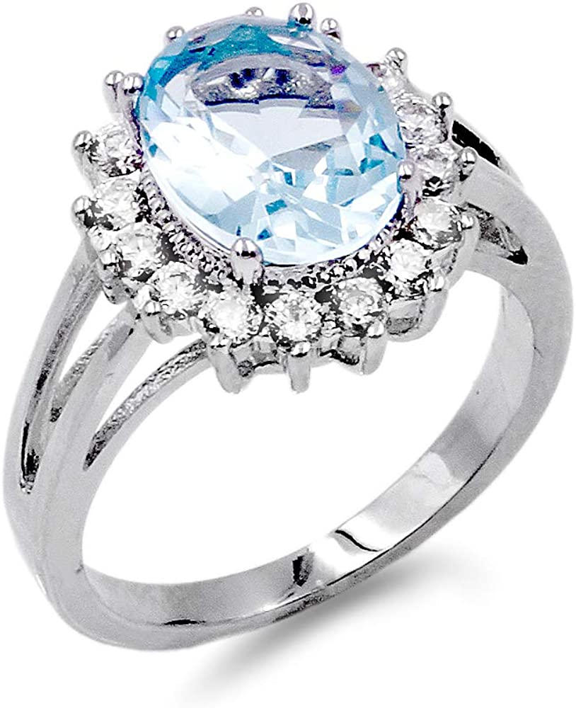 Oval Mail order service Round Shaped CZ Rings Engagement In Party Wedding Statement